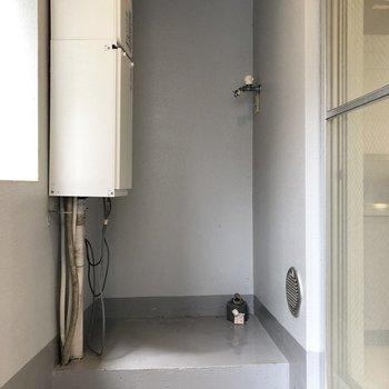 洗濯機置き場はこちらにありました。