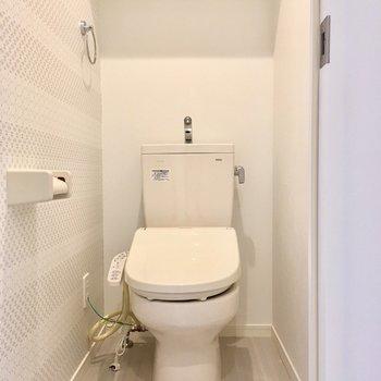 トイレもゆったり。(※写真は清掃前です)