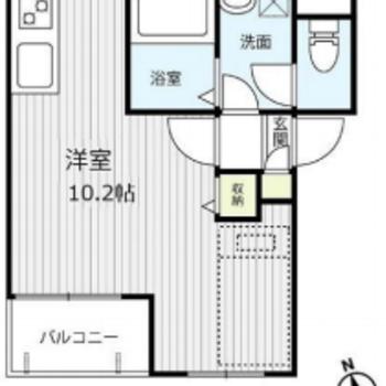 S字型のような居室