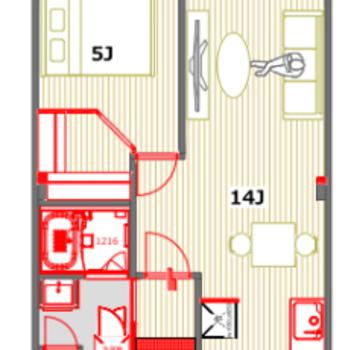 ふたり暮らしにも、ちょっと贅沢ひとり暮らしにも◎※実際のお部屋は反転間取りとなります。