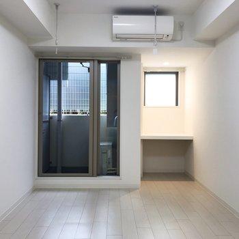 右側のこのスペースです。気になってしまうよ。※写真は地下1階の同間取り別部屋のものです