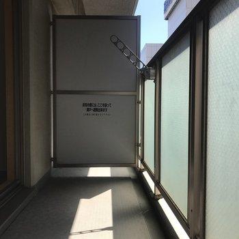 洗濯物はここに※写真は7階の同間取り別部屋のものです