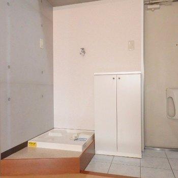 洗濯機は玄関横!(※写真は5階の反転間取り別部屋のものです)