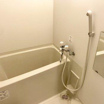 お風呂もシンプル※写真は別部屋のもの