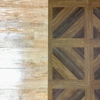 床はフローリングで、タイプの違う2種類!