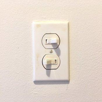 スイッチにも可愛さのこだわり。(※写真は清掃前のものです)