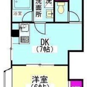 2DKのダイニングが広めのお部屋です。