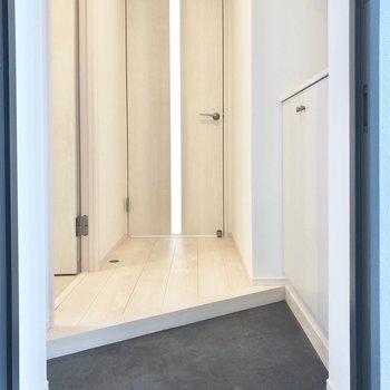 玄関は鋭利な形※写真は2階同間取り別部屋のものです