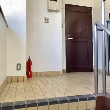 お部屋は階段を上がって正面にあります