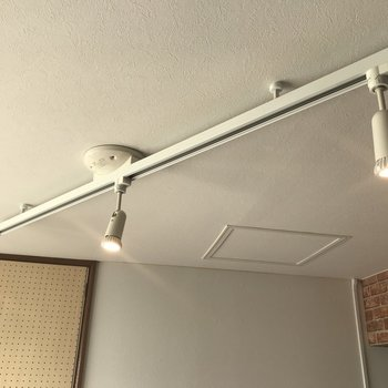 洋室スペースにはライティングレールが♪ スポットライトでお部屋の雰囲気変えちゃおう