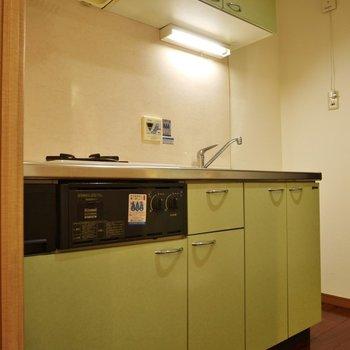 爽やかグリーン♪。※写真は402号室のもの