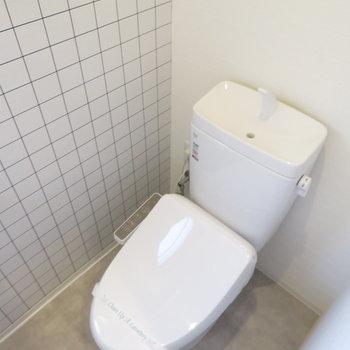 トイレもタイル張りでした