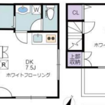 2階、3階部分が居室になっています。