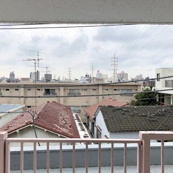 こちらからは住宅街が見えます