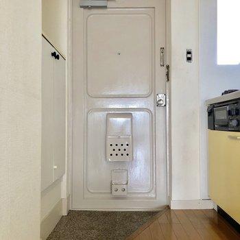 玄関はちょっと狭め。脱いだ靴は仕舞っておきましょう※写真は通電前のものです