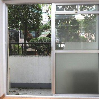 【洋室1】大きな窓から日差しは良好