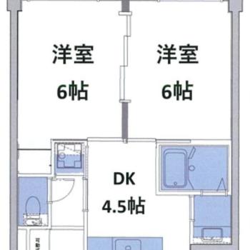 2つある洋室は大きな1部屋感覚でも使えそうです。