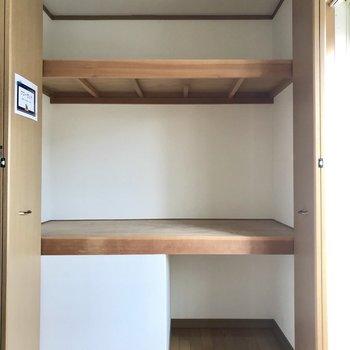 【洋室⓶】収納のこの容量!※写真は1階の同間取り別部屋のものです