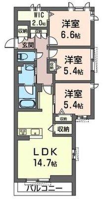 MAST 仮称 新座駅北口マンションA の間取り