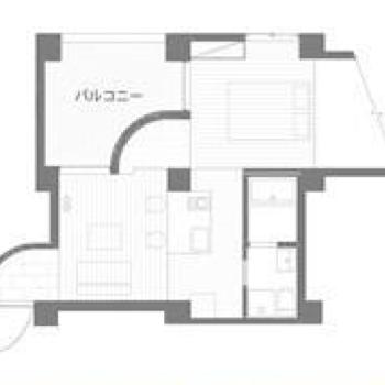 円弧の形が存在するお部屋。