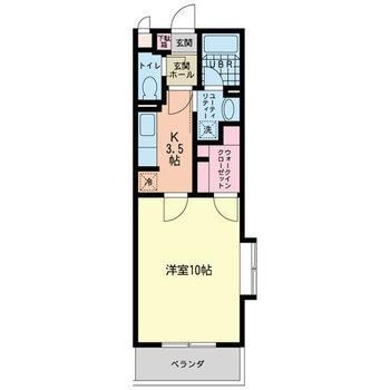 今回ご紹介するお部屋は2F角部屋です。