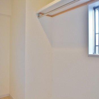 奥にあるクローゼットは大容量※写真は同タイプの別室。