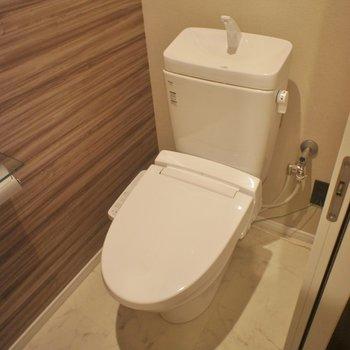 トイレはシンプルに、※写真は同タイプの別室。