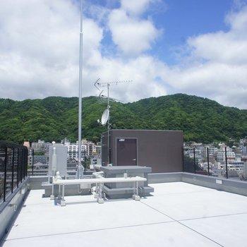 屋上もこの解放感♡※写真は同タイプの別室。