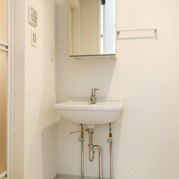 鏡の中に洗面道具を収納出来ます ※写真は前回募集時のものです