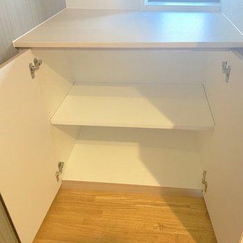 階段にも収納があります