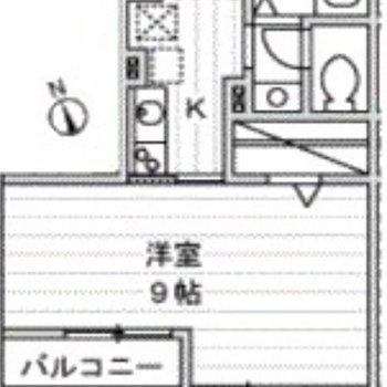 居室はゆったり。1Kのお部屋です。