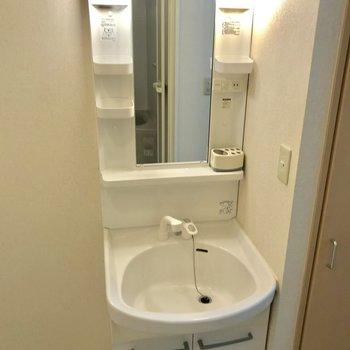 独立洗面台が完備されてます。
