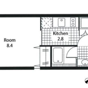 居室は正方形のような形で、家具の配置がしやすそう