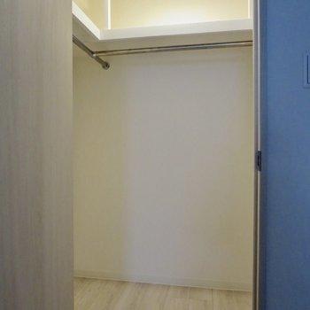【洋室】大きなウォークインクローゼット!荷物がたくさんあっても大丈夫ですね※写真は1階の同間取り別部屋のものです