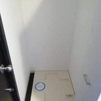 玄関横に洗濯機置き場がありました(※写真は8階の同間取り別部屋のものです)