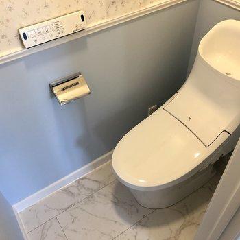 温水洗浄便座のトイレです。