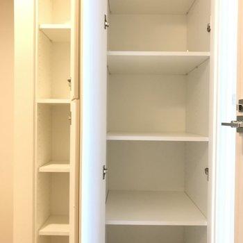 こちらは小物がしまえそう※写真は4階の同間取り別部屋のものです