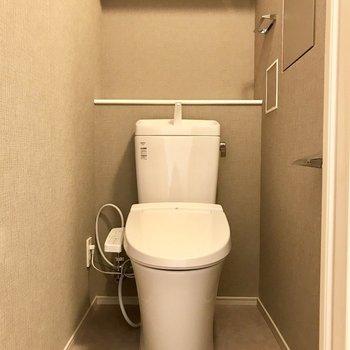 トイレは個室でご用意※写真は4階の同間取り別部屋のものです