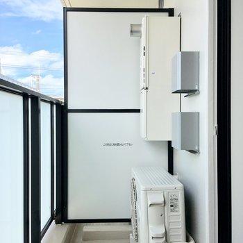 物干しを買い足せば洗濯物をここで干せますね。※写真は4階の同間取り別部屋のものです