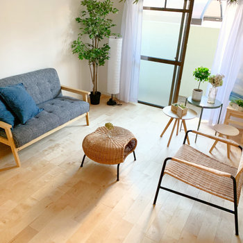 家具は好きなものをチョイスして。シンプルな空間にアナタらしさを◎(※写真の家具は見本です)