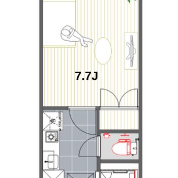 1人暮らしが楽しめる1Kのお部屋です。