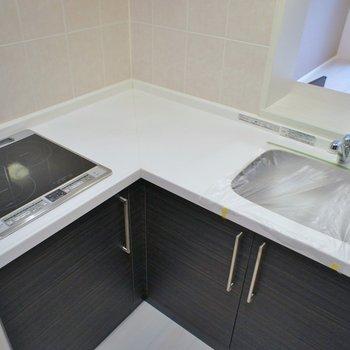 調理スペースも十分です※写真は同タイプの別室。反転タイプです。