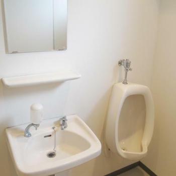 全部、白い、トイレ