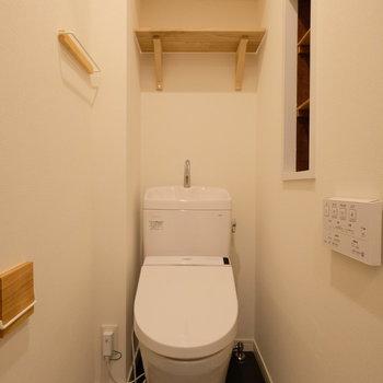 トイレも木を使った小物にチェンジ!。※写真は前回募集時のもの