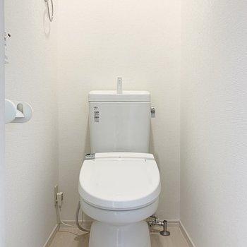 トイレは結構ゆとりありますよ〜