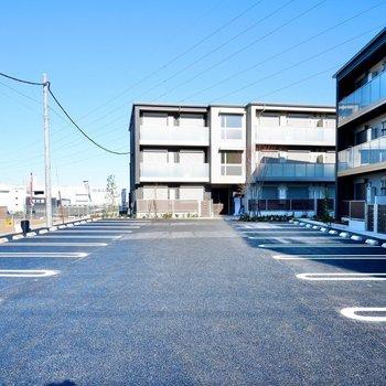 駐車場は敷地内に。