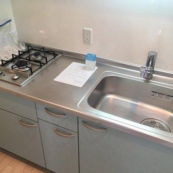 作業スペースもあり、料理もたのしめそうなキッチン!