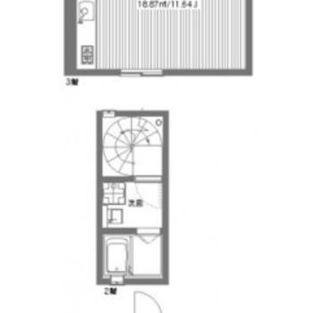 3階まであるメゾネットタイプのお部屋。