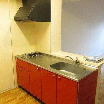 作業スペースも広々と、料理しやすそう。