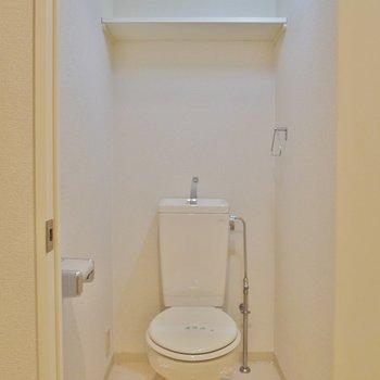 トイレ広い!残念ながらウォシュレットはありません(※写真は5階の同間取り別部屋のものです)